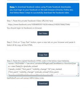 تحميل الفيديو من جروبات الفيسبوك المغلقة